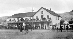 Horse races, mule teams and cattle drives were a common